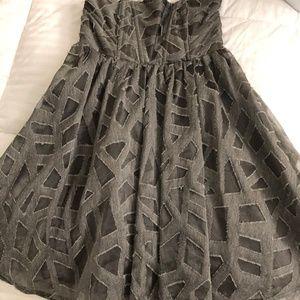 Alice & Olivia Strapless Geometric Print Dress